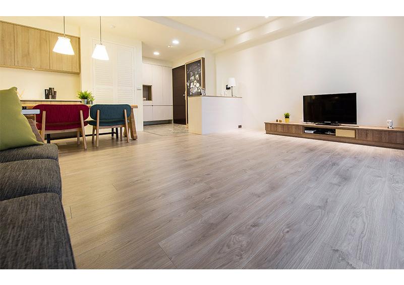 室内装潢图片,客厅 超耐磨木地板打造幸福北欧风亲子宅